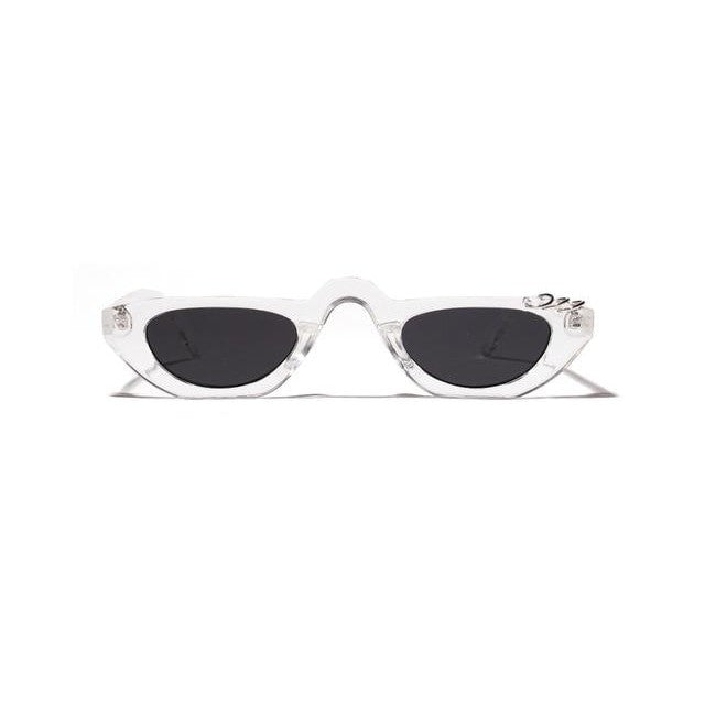 Arya - clear with black / as show in photo - Women's Sunglasses - Vintage Sunglasses - Crissado