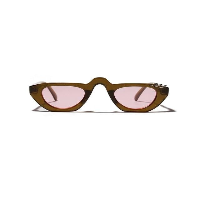 Arya - brown with pink / as show in photo - Women's Sunglasses - Vintage Sunglasses - Crissado