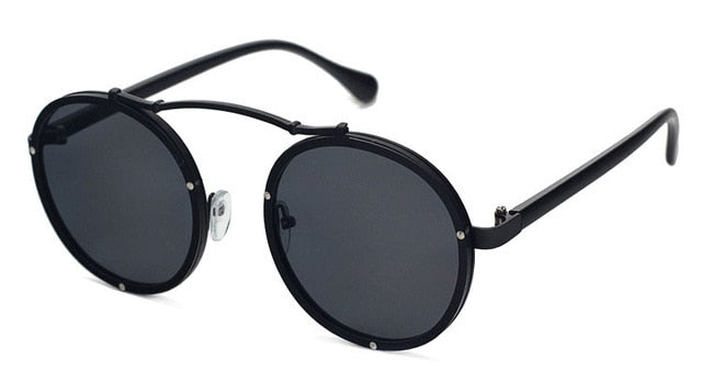 Vallume - Black Black - Women's Sunglasses - Round Sunglasses - Crissado