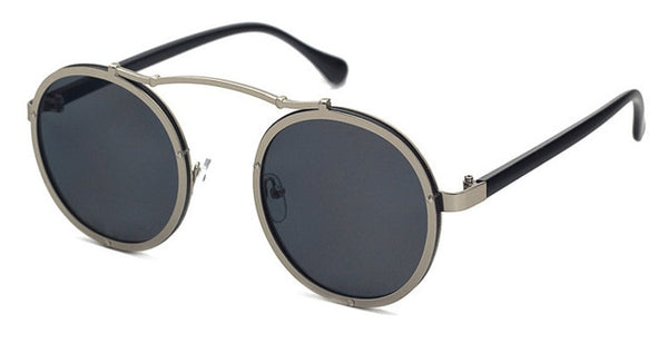 Vallume - Silver Black - Women's Sunglasses - Round Sunglasses - Crissado