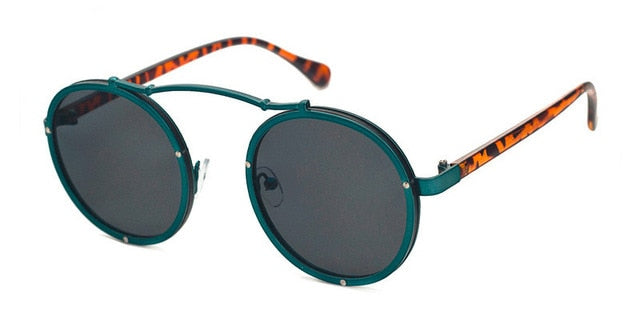 Vallume - Green Black - Women's Sunglasses - Round Sunglasses - Crissado