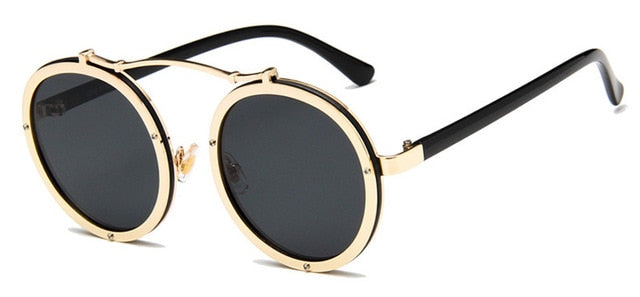 Vallume - Golden Black - Women's Sunglasses - Round Sunglasses - Crissado