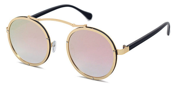 Vallume - Golden Pink - Women's Sunglasses - Round Sunglasses - Crissado