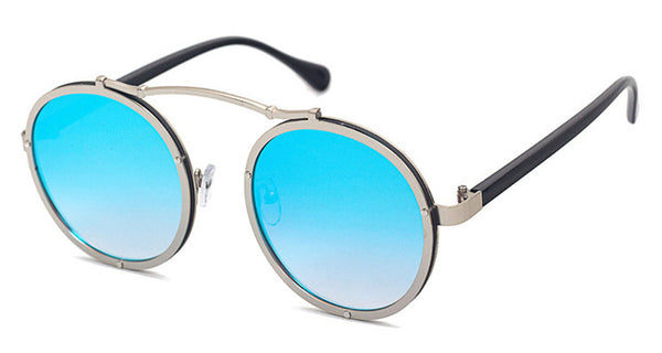 Vallume - Silver Blue - Women's Sunglasses - Round Sunglasses - Crissado