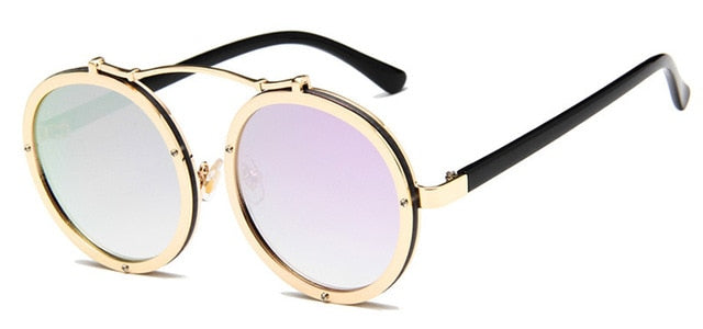 Vallume - Golden Purple - Women's Sunglasses - Round Sunglasses - Crissado