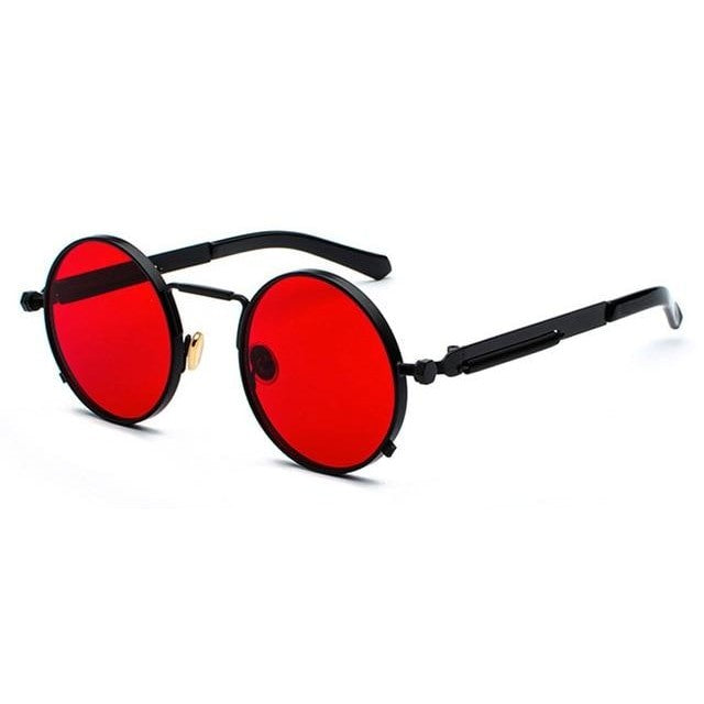 BUBBA - black with clear red / as shown in photo - Men's Sunglasses - Steampunk Sunglasses - Crissado
