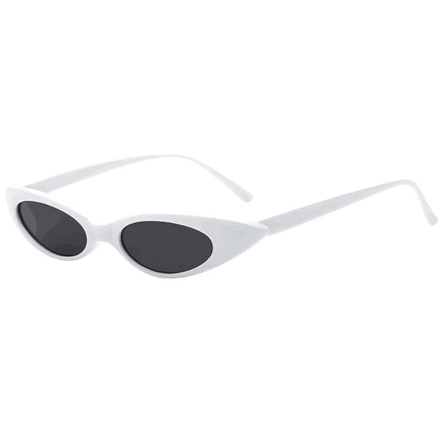 Lilo - White - Women's Sunglasses - Cat Eye Sunglasses - Crissado