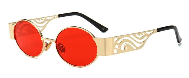 Lovezone - gold with red / as show in photo - Men's Sunglasses - Steampunk Sunglasses - Crissado