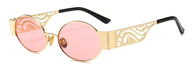 Lovezone - gold with pink / as show in photo - Men's Sunglasses - Steampunk Sunglasses - Crissado