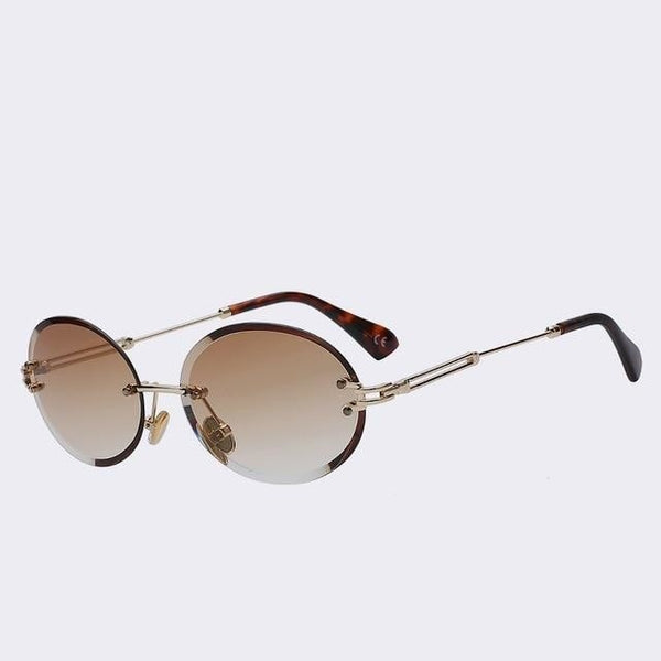 Unpossible - Gold w gradien brown - Unisex Sunglasses -  - Crissado