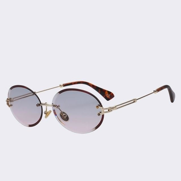 Unpossible - Gold w smoke pink - Unisex Sunglasses -  - Crissado