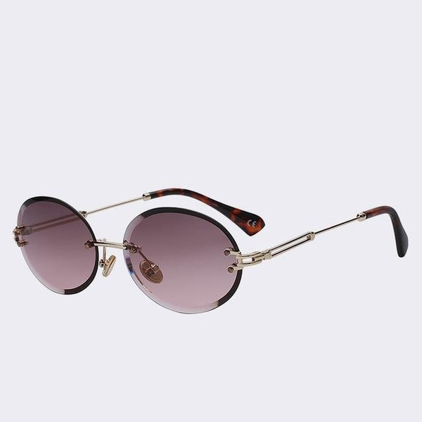 Unpossible - Gold w violet - Unisex Sunglasses -  - Crissado