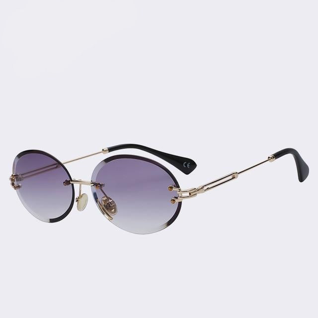 Unpossible - Gold w gradien smoke - Unisex Sunglasses -  - Crissado