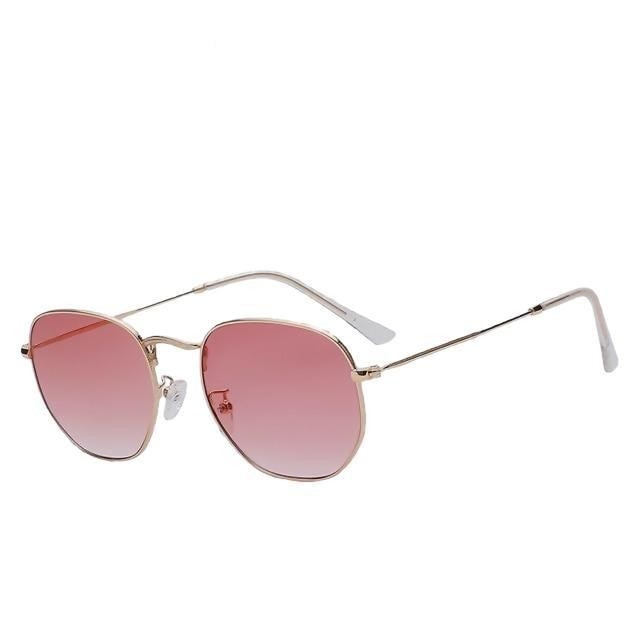 Aberidus - Gold w sea pink - Men's & Women's Sunglasses - Vintage Sunglasses - Crissado