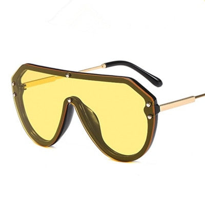 Co-Pilot Oversized - C5 Black.Yellow - Men's & Women's Sunglasses - Vintage Sunglasses - Crissado