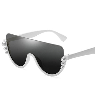 Bopster - C2 White.BlackGrey - Men's & Women's Sunglasses - Cat Eye Sunglasses - Crissado