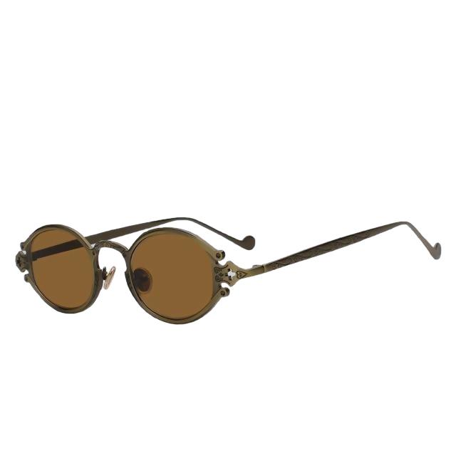 Shiphile - Copper w brown - Women's Sunglasses - Round Sunglasses - Crissado
