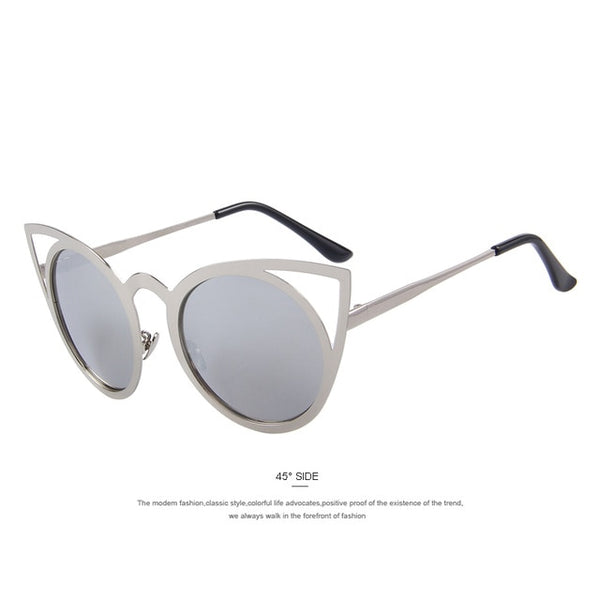 WILKES - C08 Silver - Women's Sunglasses - Cat Eye Sunglasses - Crissado