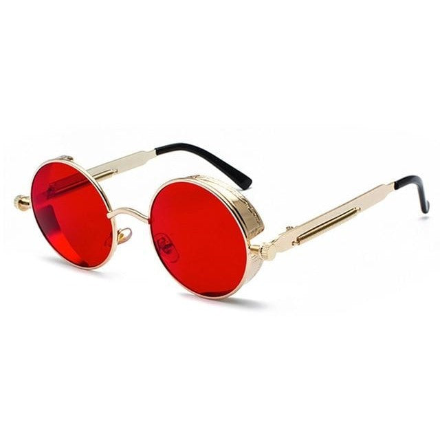 Coop-Gold - Red / as show in photo-Men's Sunglasses-Steampunk Sunglasses-Lensuit
