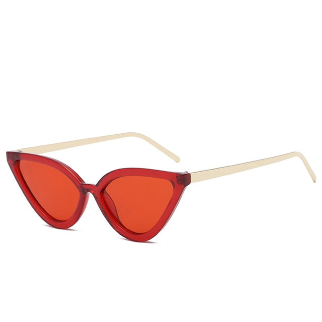 BROCKOVICH-clear red-Women's Sunglasses-Cat Eye Sunglasses-Lensuit
