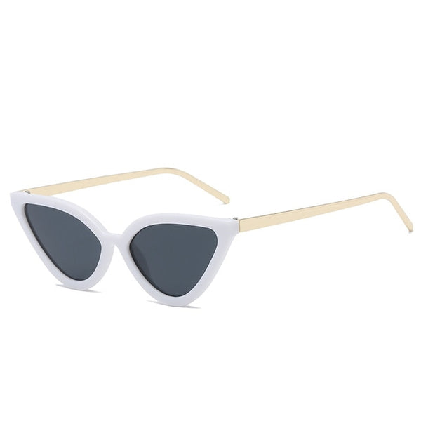 BROCKOVICH - white frame black - Women's Sunglasses - Cat Eye Sunglasses - Crissado