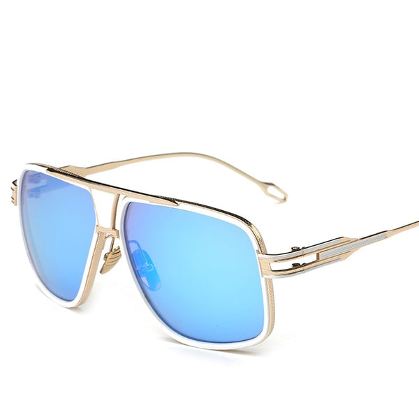 Entity - White blue - Men's Sunglasses -  - Crissado