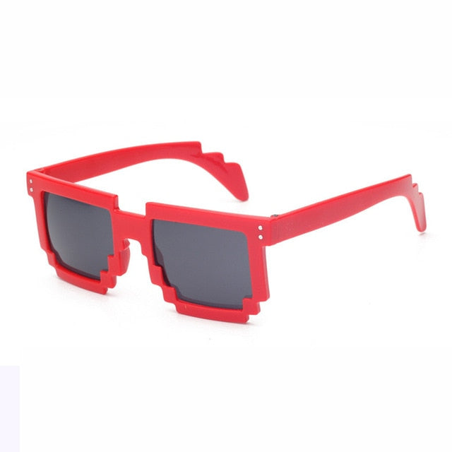 Doop Pixels Sunglasses-Red-Men's & Women's Sunglasses--Lensuit