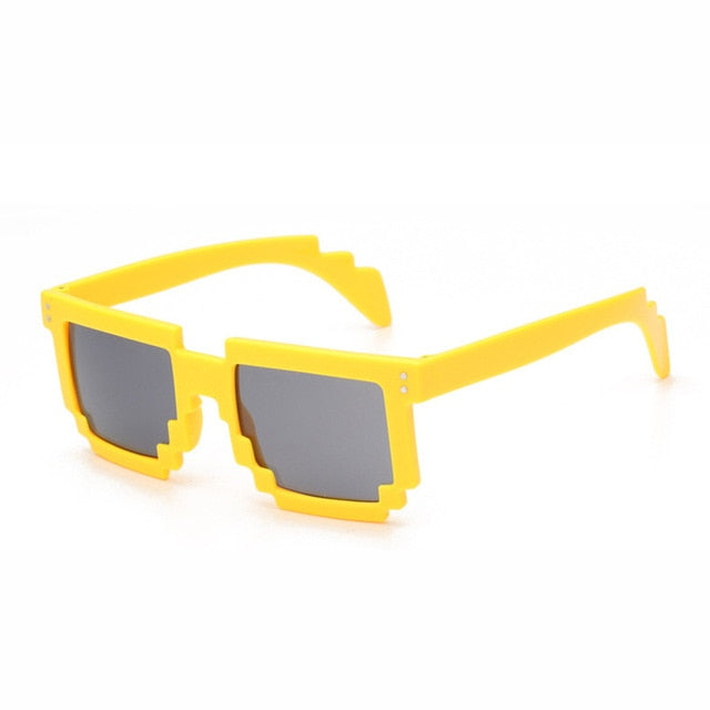 Doop Pixels Sunglasses-Yellow-Men's & Women's Sunglasses--Lensuit