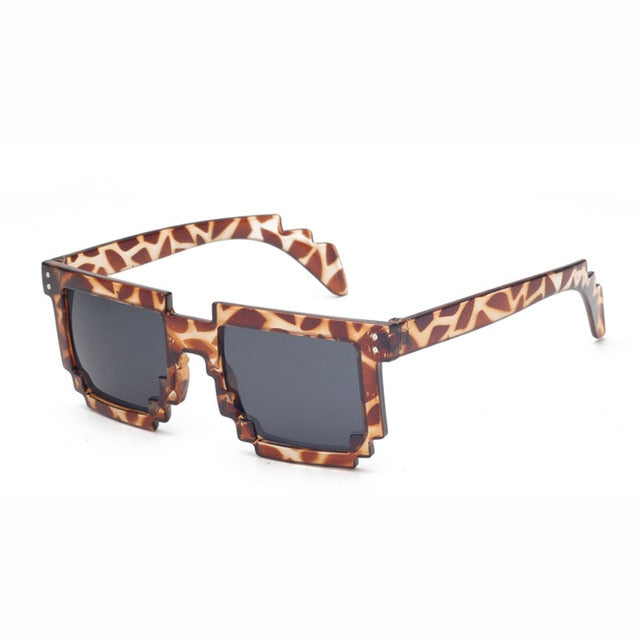 Doop Pixels Sunglasses-Leopard-Men's & Women's Sunglasses--Lensuit
