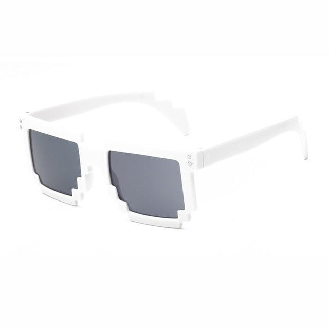 Doop Pixels Sunglasses-White-Men's & Women's Sunglasses--Lensuit