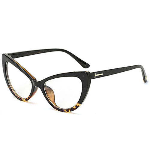 Sorson - C2 BlackLeop.Clear - Women's Sunglasses - Cat Eye Sunglasses - Crissado