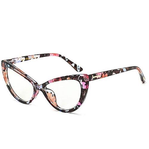 Sorson - C3 Red print.Clear - Women's Sunglasses - Cat Eye Sunglasses - Crissado