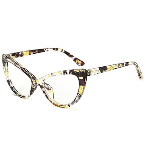 Sorson - C4 YelloPrint.Clear - Women's Sunglasses - Cat Eye Sunglasses - Crissado