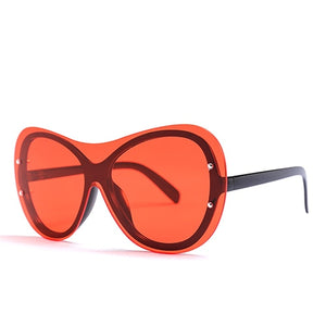 Goocrux Sunglasses-C6 Black.Red-Women's Sunglasses--Lensuit
