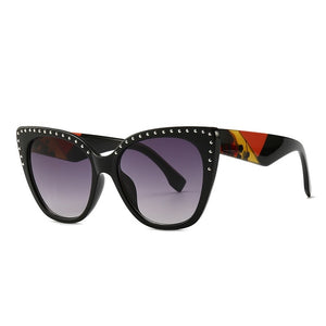 Pounit Sunglasses-C2 BlackLens.RedLeg-Men's & Women's Sunglasses-Cat Eye Sunglasses-Lensuit