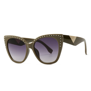 Pounit Sunglasses-C3 Khaki.Gray-Men's & Women's Sunglasses-Cat Eye Sunglasses-Lensuit