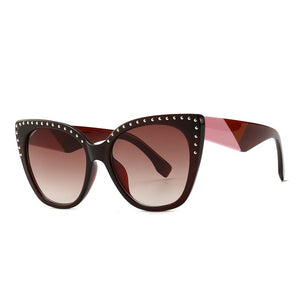 Pounit Sunglasses-C4 Brown.Brown-Men's & Women's Sunglasses-Cat Eye Sunglasses-Lensuit