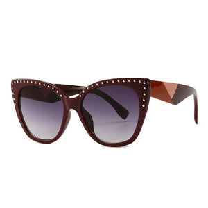 Pounit Sunglasses-C7 Wine Red.Red-Men's & Women's Sunglasses-Cat Eye Sunglasses-Lensuit