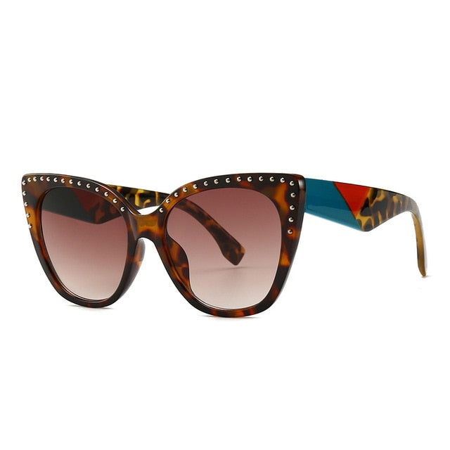 Pounit Sunglasses-C8 Leopard. Brown-Men's & Women's Sunglasses-Cat Eye Sunglasses-Lensuit
