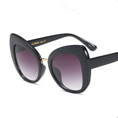 Castrealm - C2 Black.Grey - Women's Sunglasses - Cat Eye Sunglasses - Crissado