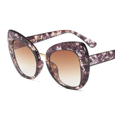 Castrealm - C4 WhiteLeopard.Brow - Women's Sunglasses - Cat Eye Sunglasses - Crissado
