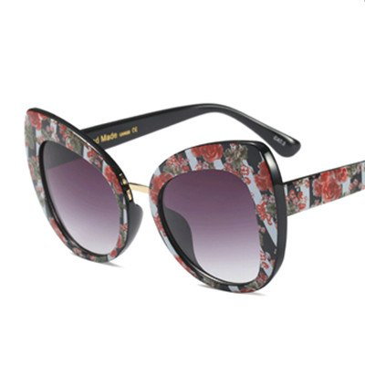 Castrealm - C6 Flower.Grey - Women's Sunglasses - Cat Eye Sunglasses - Crissado