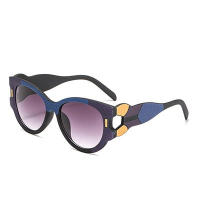 Vasagle - C4 BlueBlack.Gray - Women's Sunglasses - Cat Eye Sunglasses - Crissado