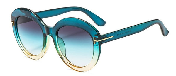 Gujax - Blue - Women's Sunglasses - Cat Eye Sunglasses - Crissado