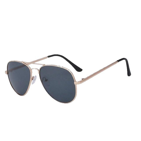 Spourmo - Gold  w black - Unisex Sunglasses - Aviators - Crissado