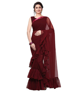 This Beautiful Traditional sari is elegantly decorated with gorgeous Embroidery and pattern that gives a perfect look to the outfit.
