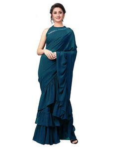 This Beautiful Traditional sari is elegantly decorated with gorgeous designer and pattern that gives a perfect look to the outfit.
