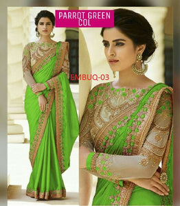 Magnetic Wedding Wear Designer Saree With Blouse