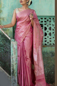 Attractive Pink Colored Soft Silk Saree
