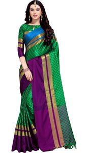 Amazing Multicolor  Party Wear Soft Silk Saree With Blouse